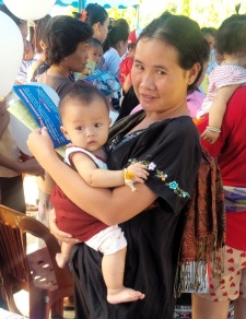 Laos - 2014 Woman with Baby and Balloon v2