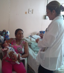 Nicaragua - 2014 Woman with Baby and Doctor