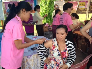 Flu shot for pregnant woman in LPB